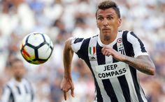 Descargar fondos de pantalla La Juve, 4k, Mario Mandzukic, los futbolistas, de la Juventus, fútbol, Italia, Serie a