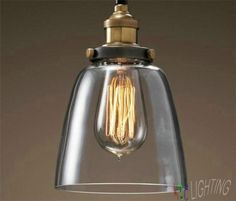 Edison Industrial Glass Shade Lamp
