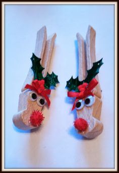 Double Treble Craft Adventures: Clothespin Reindeer Pin or Magnet {Craft}