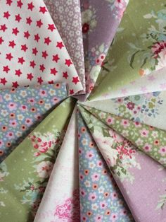 Tilda Floral Fabric Bundle - 12 pieces - Please see measurement in the description by FabriClutter on Etsy
