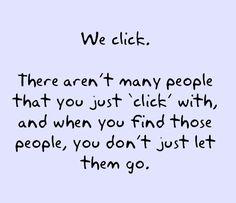 We click