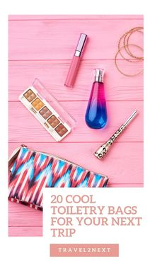 20 best travel toiletry bags. Toiletry bags come in a range of materials, such as canvas, PVC, cloth, water-resistant nylon fabric, and leather. If you travel with jars of potions and bottles of liquid, you'll want to choose a waterproof bag for your toilet items. #toiletrybags #travels #travelshop #traveltips Travel Pants, Travel Toiletries, Toiletry Bag, Business Travel, Getting Organized, Jars, Traveling By Yourself, Bottles, Range