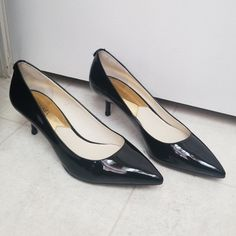 48476c3c10 Michael Kors Shoes | Michael Kors Black Patent Leather Pumps High Heels |  Color: Black | Size: 9