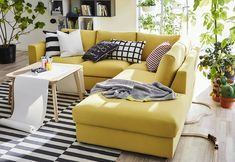 Yellow sofa IKEA vimle