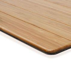 Badematte aus Bambus | EMMA | 60x90cm | Badvorleger Badematten Bambusmatte Holz