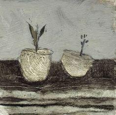 David Pearce, Small Paintings Still Life Mixed Medium on Panel 10 x 10cm