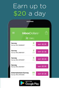 Earn cash for answering short survey questions right from your phone! Download the InboxDollars app for free today and receive $5 bonus just to signup