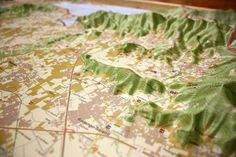Franciacorta Wine Region Raised Relief Map