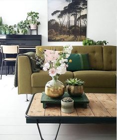 When a Dutch home goes green... See the full tour and before and after of @fijninhuis fab half-painted wall in the bl...
