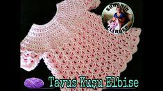 TAVUS KUŞU ELBİSE (TIĞ İŞİ) - YouTube Crochet Bebe, Crochet For Kids, Free Crochet, Knit Crochet, Crochet Hats, Girl Gifs, Kind Mode, Baby Dress, Free Pattern