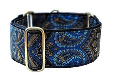 Brocade Tapestry Martingale Collar (2 Inch), Greyhound Collar, Whippet Collar, Custom Dog Collar, Custom Martingale on Etsy, $24.95