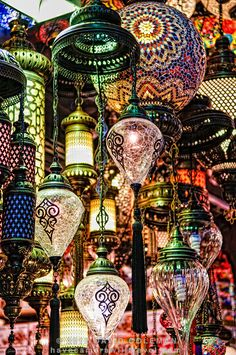 Istanbul's Grand Bazaar includes colorful glass mosaics.