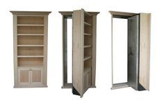 Project Type: Built-in single bookcase Wood Species: Maple Finish Type: Unfinished Additional Features: Bulletproof integrated backer.