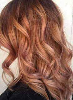 Brown Rose Gold Hair Color. Are you looking for rose gold hair color hairstyles? See our collection full of rose gold hair color hairstyles and get inspired!