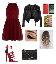 """🍷"" by catrinel-grigorescu on Polyvore featuring New Look, Giuseppe Zanotti, F and Chanel"