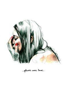 """""""Please come back"""", una ilustración de Paula Bonet · Puedes ver más trabajos de #paulabonet aquí: www.gnomo.eu/paulabonet"""