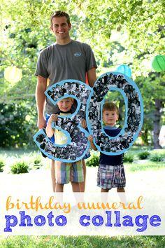 Birthday Numeral Photo Collage