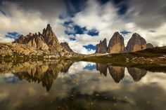 Dolomites 4/30 - A reflection with flowers from Dolomites :) You can check hole series here: www.adrianpetrisor.ro/tura-foto-din-dolomiti-august-2016/