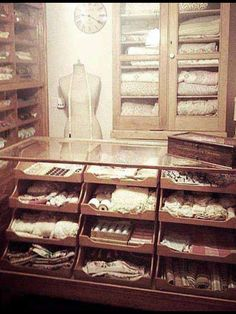 The old drapery shop , buttons and bows !