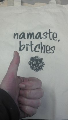 Namaste Bitches Yoga Organic 100% Cotton Tote by HouseofTangTang, $20.00