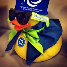 """The @greaterkokomo Papa Duck is all """"ducked"""" out for the 2012 Duck Derby."""