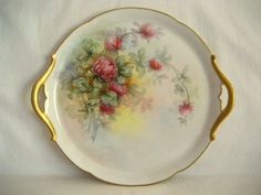 limoges china | Antique Limoges Tray Hand Painted Porcelain China