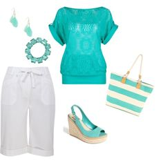 White + Teal =  its-called-a-passion-for-fashion