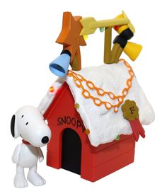 Amazon.com - Snoopy's Doghouse Deluxe Display Set with Lights and Sound - Holiday Figurines