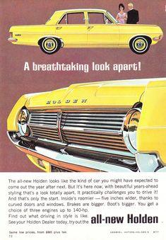 1965 HD Holden Sedan Look Aussie Original Magazine Advertisement Australian Muscle Cars, Aussie Muscle Cars, Vintage Advertisements, Vintage Ads, Vintage Graphic, Holden Australia, Holden Monaro, Australian Vintage, Holden Commodore