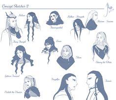 Tolkien Sketches 2 by JayEyBee on DeviantArt