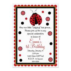 2360b0ad78b7 Ladybug Birthday Invitations Invitaciones De Cumpleaños