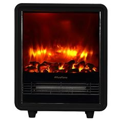 PuraFlame Octavia Black 12 inch Portable electric Heater, Eco Friendly, 1500W *** Details can be found by clicking on the image.