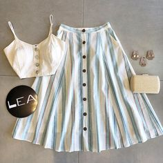 Modest Outfits, Classy Outfits, Skirt Outfits, Casual Outfits, Cute Summer Outfits, Cool Outfits, Sunmer Dresses, Baby Girl Dress Patterns, Mode Hijab