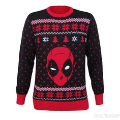 Ugly Christmas Sweater x Deadpool = awesome.