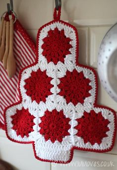 Crochet Christmas Tree Potholder, free pattern... this is so cute!
