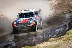 Three AXION X-raid Team MINI ALL4 Racing finish Stage 7 in the top ten. Hirvonen joins Al-Attiyah inside the top five positions