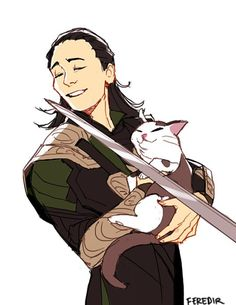 THEY DID ARTWORK FOR THAT TUMBLR POST OF LOKI AND THE CAT!!!