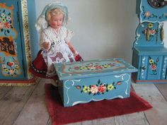 Vintage DORA KUHN Doll Furniture Toy Chest in Larger by TheToyBox