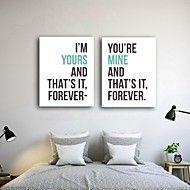 Stretched Canvas Print Art Romantic Love Quote Se... – USD $ 64.99