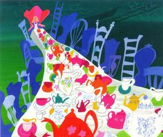 Mary Blair's illustration for Disney's Alice in Wonderland.