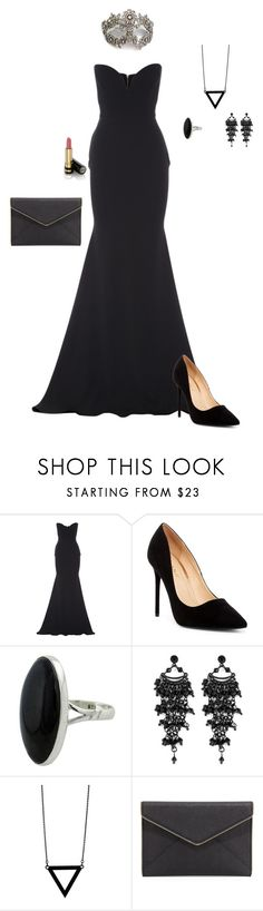"""""""Black Gown"""" by gone-girl ❤ liked on Polyvore featuring Masquerade, Alex Perry, Liliana, NOVICA, Oasis, Alex and Chloe, Rebecca Minkoff and Gucci"""
