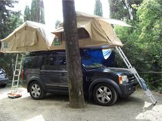 Two roof tents!! Tent Awning Truck C&er C&er Van Top Tents & 49 Best Land Rover Discovery Accessories images | Land rovers Land ...