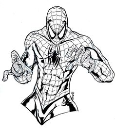 free spider man coloring pages sketch template