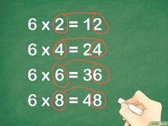Come Imparare le Tabelline: 17 Passaggi (Illustrato) Teaching Multiplication, Math Vocabulary, Teaching Math, Math For Kids, Fun Math, Math Activities, Math Help, How To Learn Math, Homeschool Math