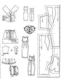 basic sheath dress for barbie dolls.