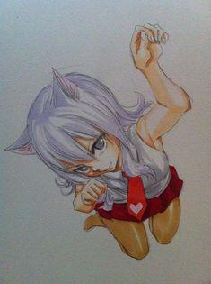 Cat Jubia by Hiro Mashima Fairy Tail 漫画, Carla Fairy Tail, Fairy Tail Manga, Fairy Tail Ships, Anime Fairy, Fairy Tales, Neko, Fairy Tail Quotes, Angel Drawing