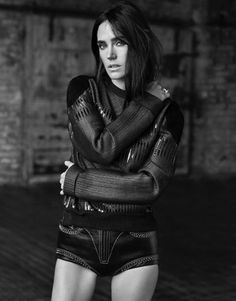 Jennifer Connelly channels her inner model in a moody black and white shot on Grazia Magazine December 2015 issue Photoshoot