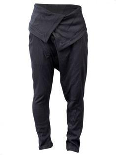 JULIUS MA - Fold-over Slim Trouser - 400PAM6 GRAY - H. Lorenzo