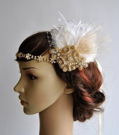 Oro casco chamagne de oro 1920 gatsby el gran Gatsby diadema