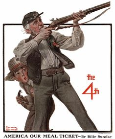 Old Veteran and Boy by Norman Rockwell (1921) The Country Gentleman